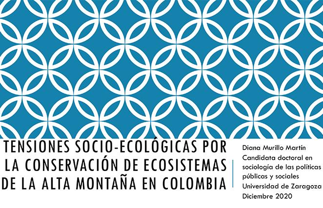 20. Tensiones socio-ecológicas por la conservación de ecosistemas de la alta montaña en Colombia, por Diana Carolina Murillo Marín